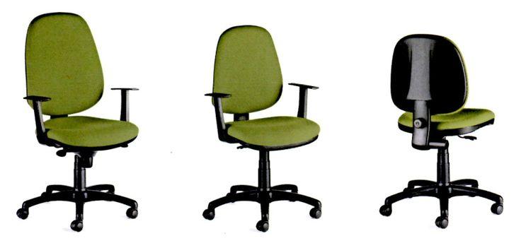 Opción de silla secretaría en varios espaldares