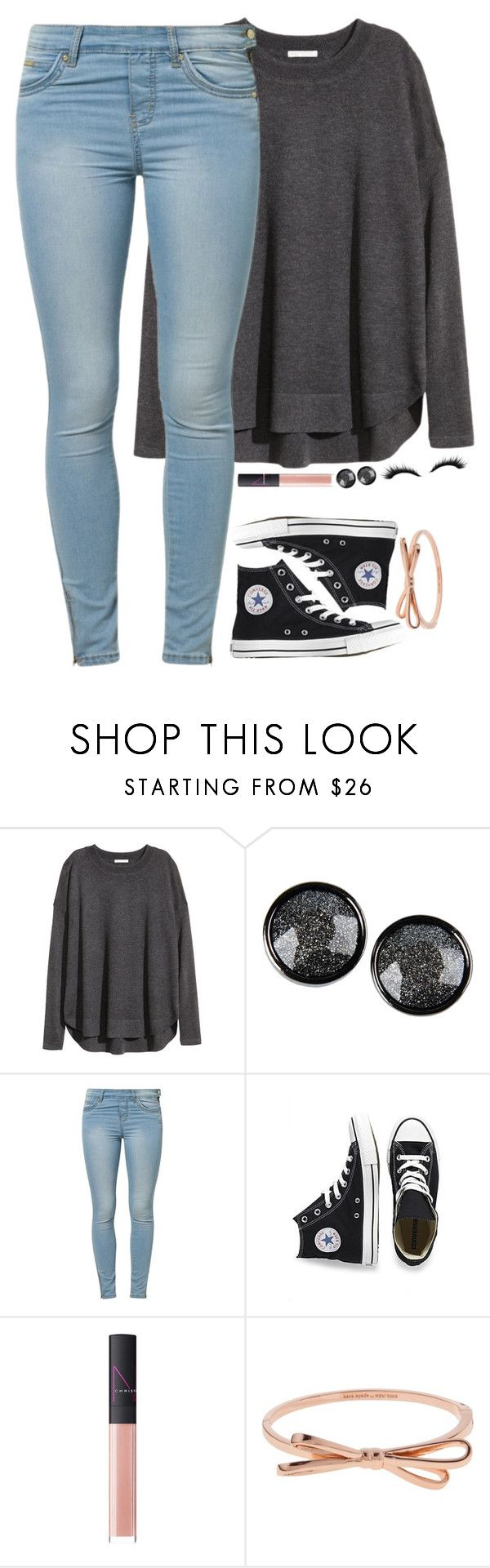 """QOTD"" by meljordrum ❤ liked on Polyvore featuring H&M, Marc by Marc Jacobs, Jane Norman, Converse, NARS Cosmetics and Kate Spade"