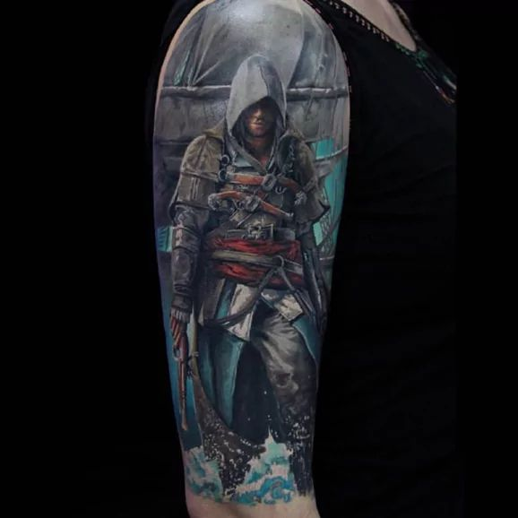 best 25 assassins creed tattoo ideas on pinterest assassins creed symbol assassins creed. Black Bedroom Furniture Sets. Home Design Ideas