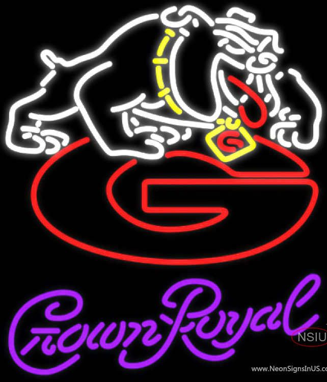 Crown Royal Georgia Bulldogs Uga Logo UNIVERSITY Real Neon Glass Tube Neon Sign,Affordable and durable,Made in USA,if you want to get it ,please click the visit button or go to my website,you can get everything neon from us. based in CA USA, free shipping and 1 year warranty , 24/7 service