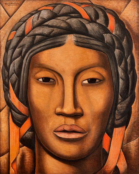 ALFREDO RAMOS MARTINEZ - La India de Tehuantepec/Mujer de Tehuantepec  circa 1930 oil on canvas