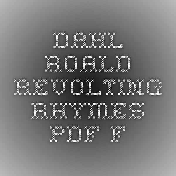 dahl_roald_-_revolting_rhymes.pdf f  Fairy tales re done re-done. poems