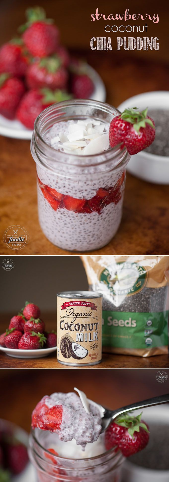 Strawberry Coconut Chia Pudding is an easy, tasty, healthy, paleo, nutrient packed snack that not only tastes great and fills you up, but its good for you!
