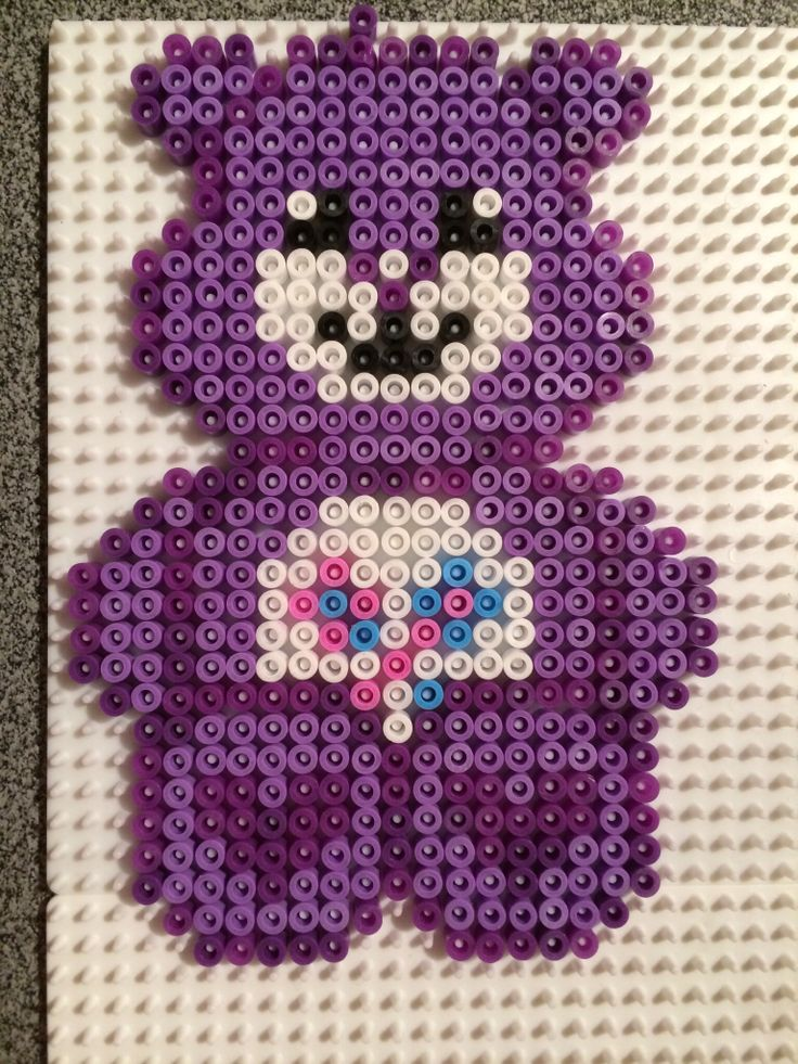 Care Bear perler beads by Kelly Mourissens