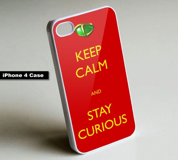 Keep Calm and Stay Curious - iPhone 4