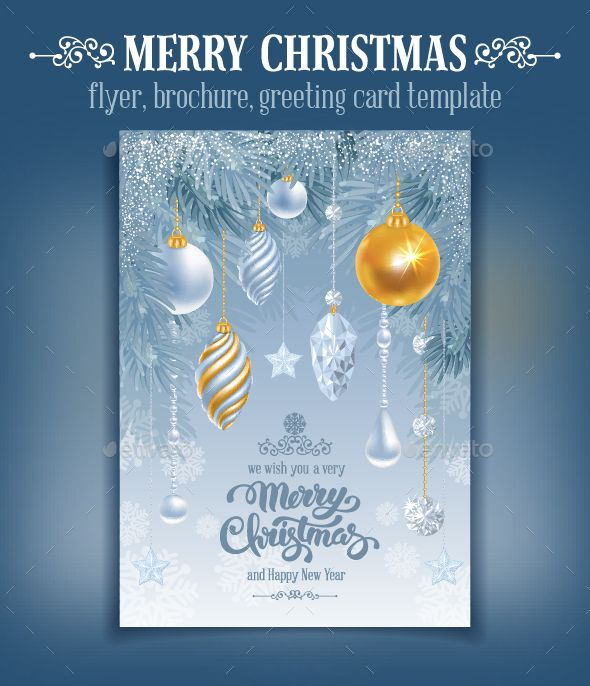 Merry Christmas Greeting Card Template Vector EPS, AI, PSD #design Download: http://graphicriver.net/item/merry-christmas-greeting-card/13812271?ref=ksioks