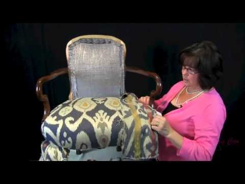 How To Upholster A Wooden Arm Chair - For The (Upholstery Beginner) - YouTube