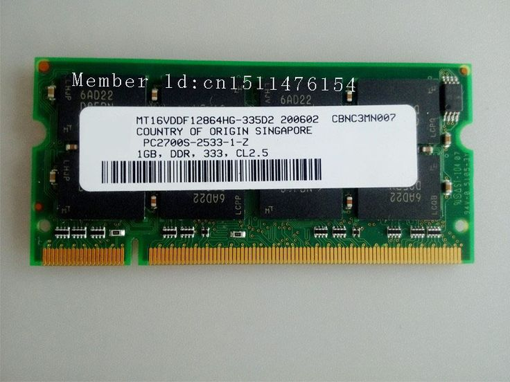 1GB PC2700 DDR333 333Mhz 1gb pc2700 ddr1 333mhz 200pin DDR1 Sodimm Laptop Memory RAM Notebook Free Shipping
