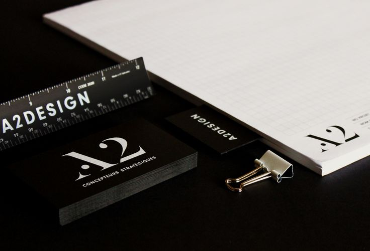 Branding / business card / logo / A2DESIGN / architecture / black and white