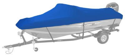 Bass Pro Shops Select Fit Hurricane Boat Covers for V-Hull Models with Trolling Motor - Blue - 18'6''-19'5''