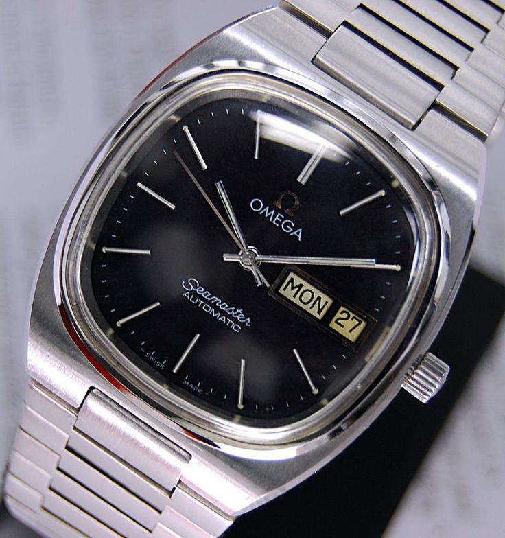 MENS OMEGA SEAMASTER AUTOMATIC CAL 1020 BLACK DIAL DAY&DATE WATCH #Omega #LuxuryDressStyles