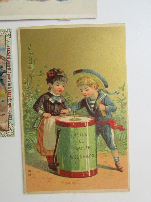Online veilinghuis Catawiki: Chromo lithographie verzamelkaarten  Lot van 32 verschillende kaarten - ca. 1878-1900