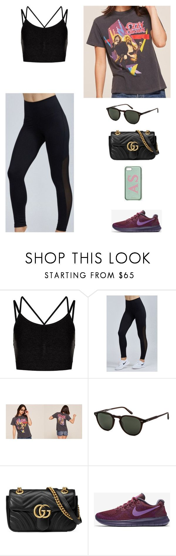 """""""10/10 - Workout"""" by mrs-schultzz ❤ liked on Polyvore featuring Sweaty Betty, Varley, Garrett Leight, Gucci and NIKE"""