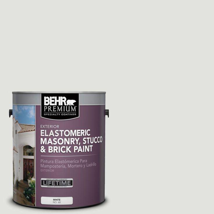 Behr premium 1 gal ms55 arctic gray elastomeric masonry