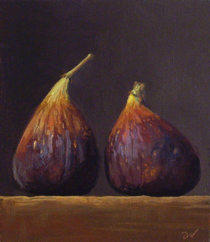 """Pintura a óleo de Abbey Ryan - """"Figos"""""""