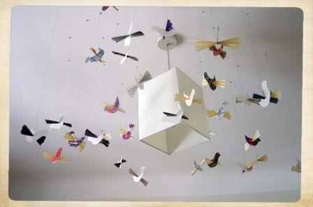 Papieren vogels