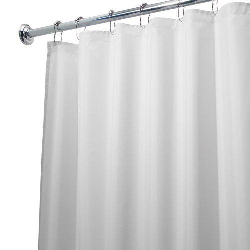 interdesign 96 inch fabric waterproof extra long shower curtain liner white by interdesign. Black Bedroom Furniture Sets. Home Design Ideas