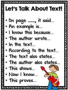 Let's Talk About Text!  {A Freebie to Support Close Reading}