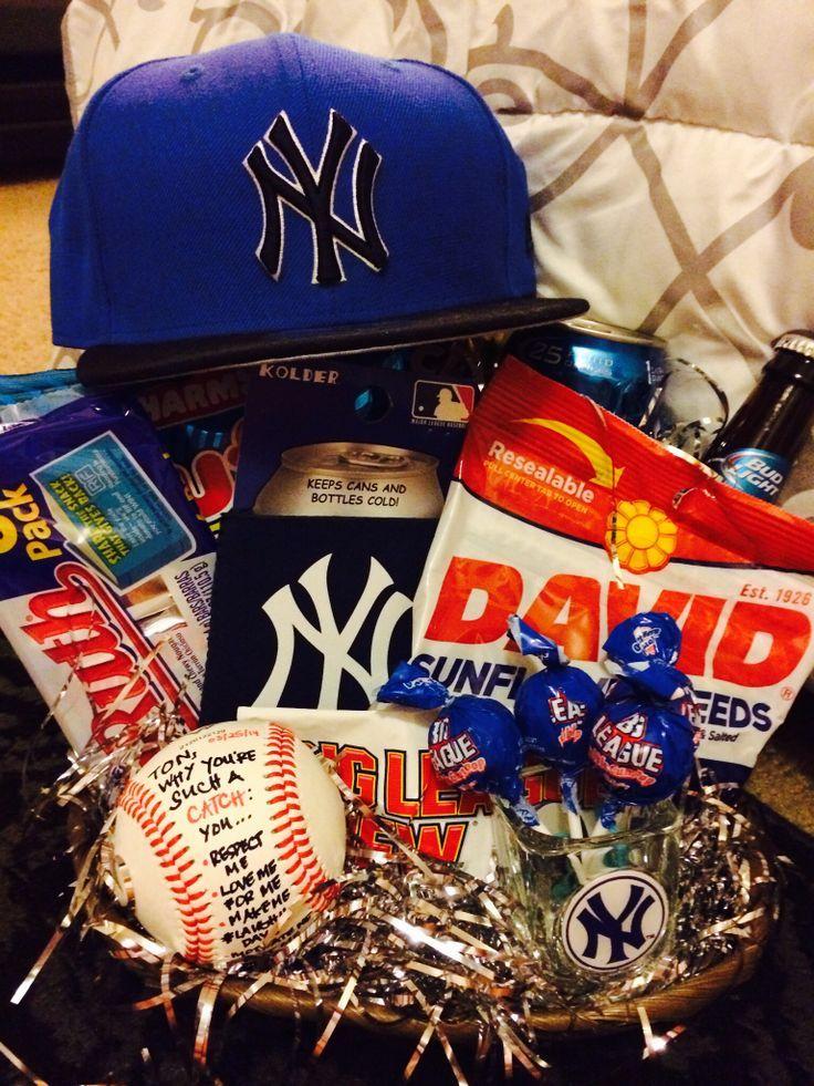 Baseball boyfriend gifts baseball gift basket boyfriend