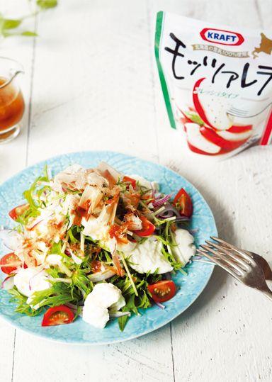 モッツァレラチーズとオニオンの和風サラダ仕立て のレシピ・作り方 │ABCクッキングスタジオのレシピ | 料理教室・スクールならABCクッキングスタジオ