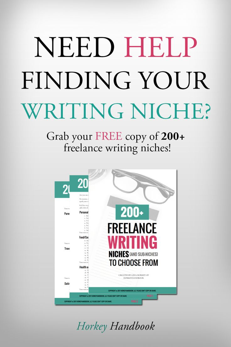 Finding Your Niche: Write Up What Lights You Up