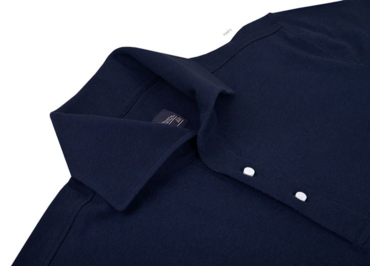 Linen-Cotton: Navy Knitted Pique pullover from Luxire is definitely the 'it' shirt set to take over the wardrobe: http://custom.luxire.com/products/linen-cotton-navy-knitted-pique Features: Long flower collar