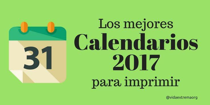 Ahora puedes descargar gratis los mejores calendarios 2017 para imprimir. Esta colección incluye calendarios con festivos, semana santa 2017, feriados y planificador de tareas.