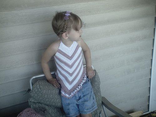 Child's Crochet Halter Top - Size 4-5 - Free Pattern (Ravelry)