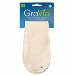 Inserti aggiuntivi in cotone biologico per pannoli lavabili - Booster GroVia. si abbinano a tutti i modelli di pannolino GroVia (AIO e AI2). Molto sottili e anatomici, si adagiano semplicemente sopra la parte assorbente garantendo un notevole aumento di assorbenza senza impacciare.