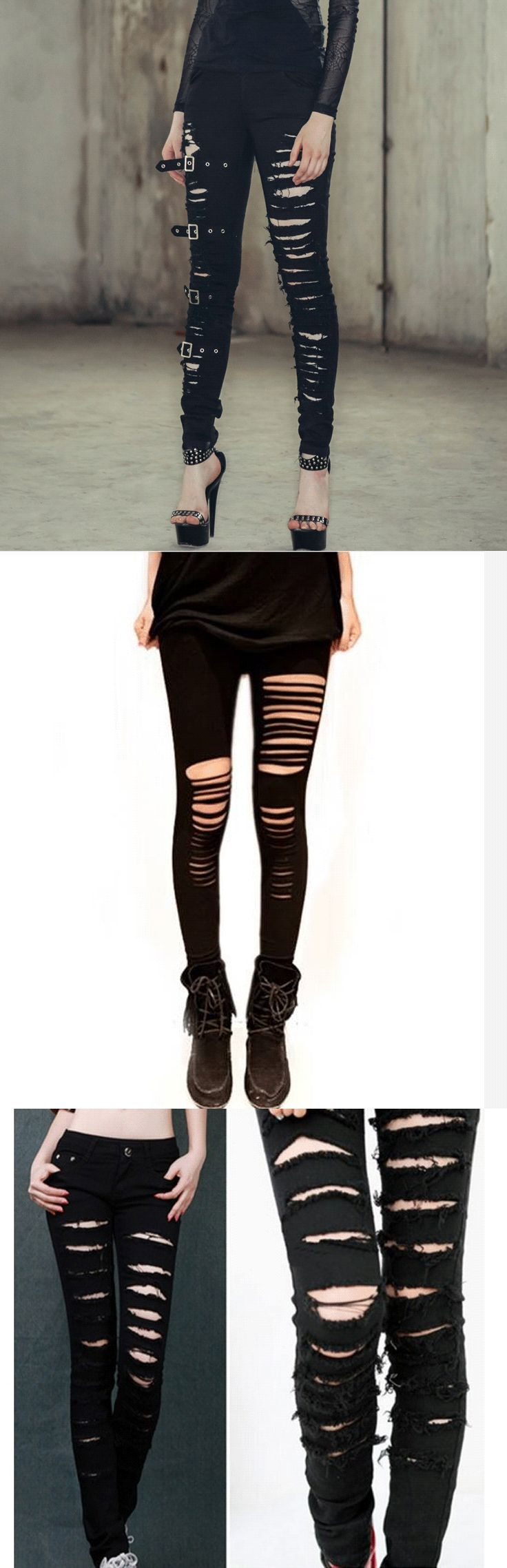Shop cool ripped punk leggings at RebelsMarket!