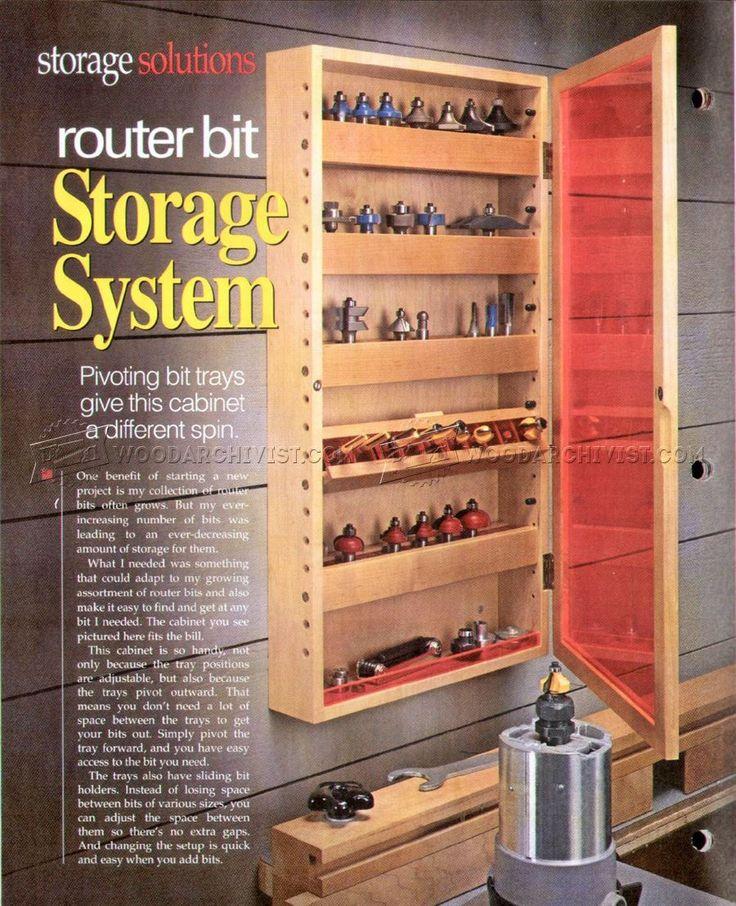 #1432 Router Bit Storage System Plans   Router · Power Tool StorageStorage  SystemsStorage IdeasRouter ...