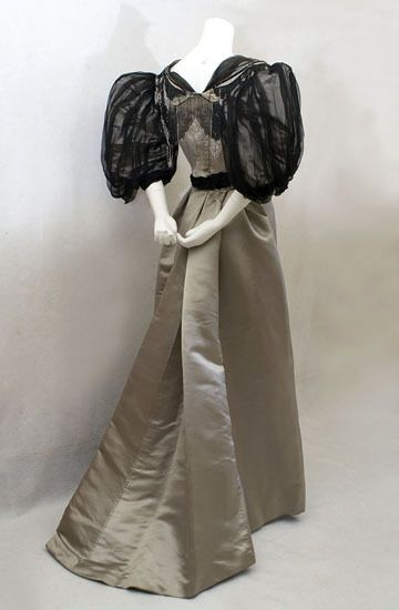 Morin Blossier evening dress ca. 1894 From Vintage Textile
