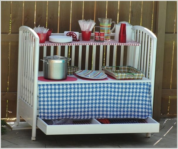 28 Inspirational Ways How to Repurpose Old Baby's Cribs - some I like, some not so much.