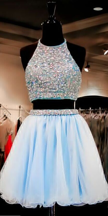 #Beaded #PartyDresses  #Handmade #Prom #Dress #brideamaiddress #BLUE #prom…