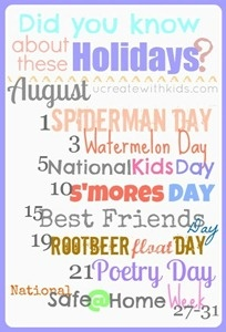 August Holidays - forgot my birthday!