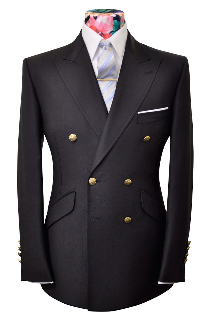 THE MOLLISON Navy double breasted Blazer by William Hunt