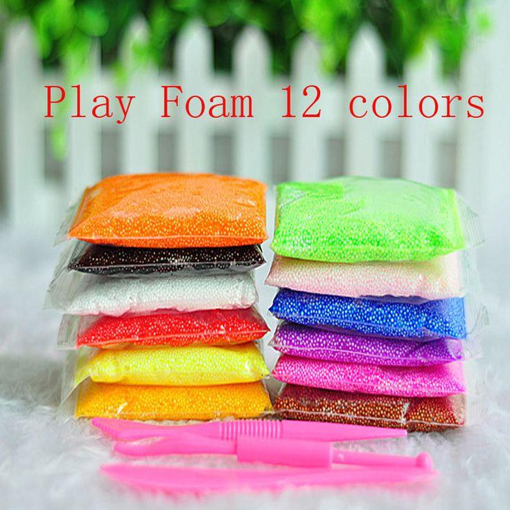 Foam clay mükemmel renkli modelleme kil modeli sihirli hava kuru balçık hamuru çocuk hediyeleri playdough çocuklar doğum günü oyuncaklar