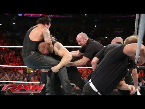 Brock Lesnar confronts The Undertaker: Raw, July 20, 2015 - YouTube