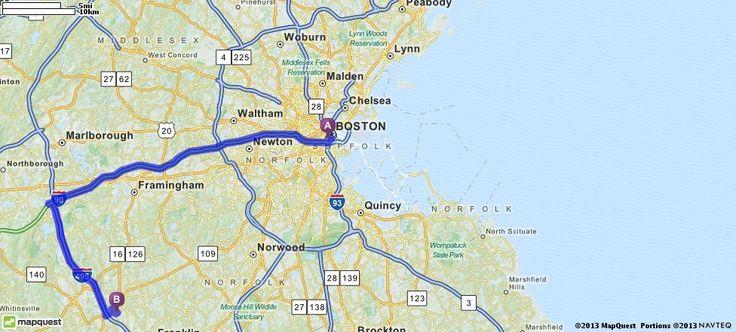 mapquest driving directions boston ma