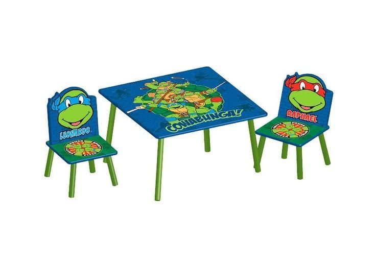 Oferta MESA Y 2 SILLAS TORTUGAS NINJA, DE MADERA. TT89522NT, IndalChess.com Tienda de juguetes online y juegos de jardin