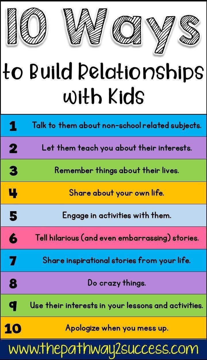 10 Möglichkeiten, sinnvolle Beziehungen zu Kindern und jungen Erwachsenen aufzubauen