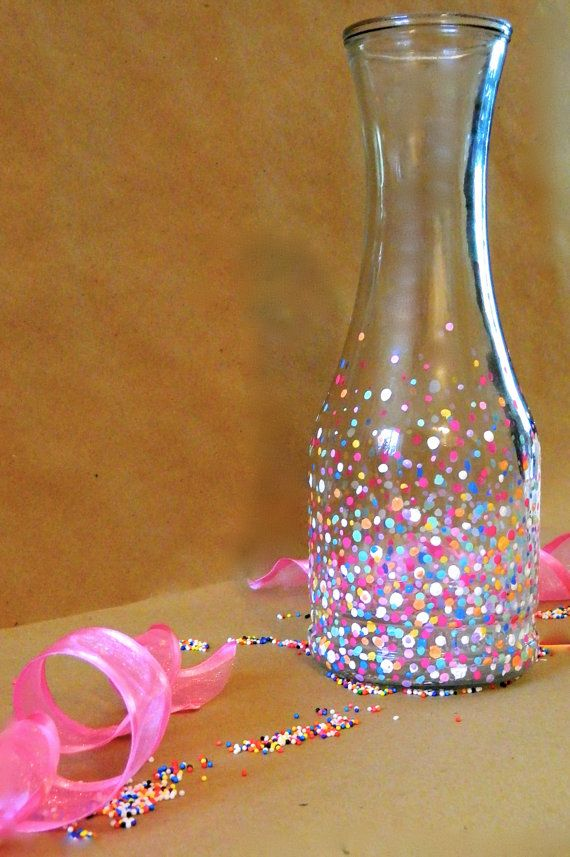 Funfetti Carafe! Yes please!!//I can totes do this - I have more than enough paint!