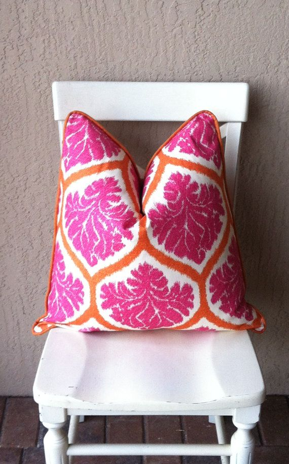 Hey, I found this really awesome Etsy listing at https://www.etsy.com/listing/154212846/pink-pilloworange-pillowduralee-ambry