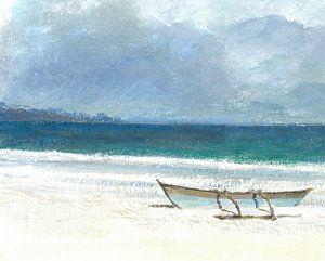 Coastal Painting - Beach Thalassa by Lincoln Seligman