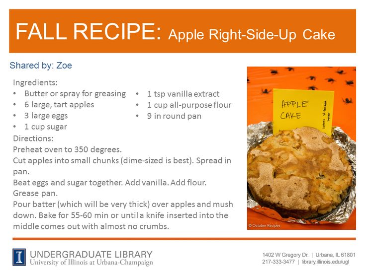 Apple Right-Side-Up Cake recipe from Zoe.