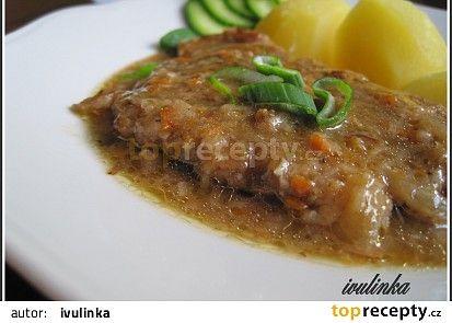 Vepřové plátky s česnekem a majoránkou recept - TopRecepty.cz