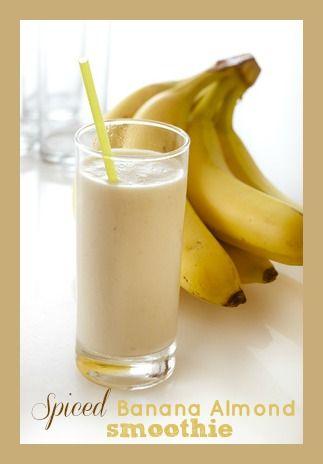 Spiced Banana Almond Smoothie Recipe