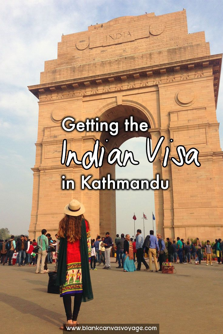 Getting the Indian Visa in Kathmandu wasn't as difficult as we thought it would be.