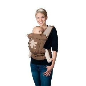 Hoppediz Bondolino Popeline walnuss & klecks Komforttrage, Babytrage, Bauchtrage, Rückentrage: Amazon.de: Baby