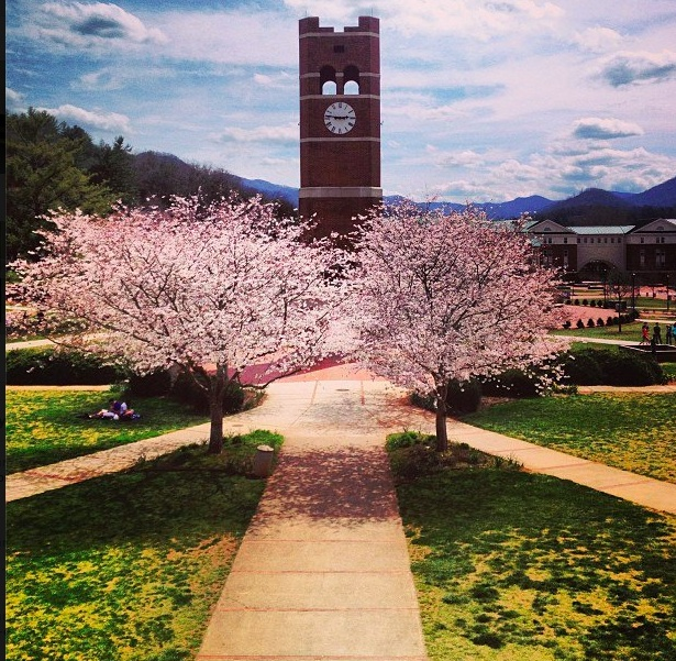 Western Carolina University. Cullowhee, NC. Where I went to school. If you have never been, you don't know the beauty that lies in little Cullowhee